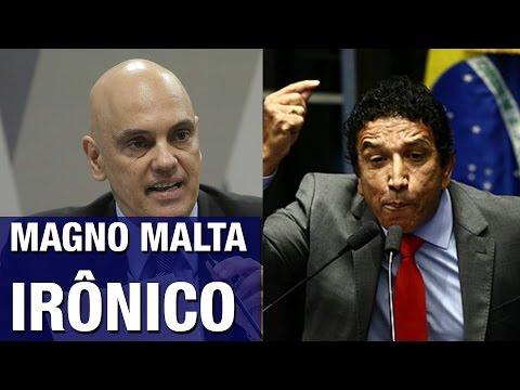 Magno Malta usa de ironia fina para desmascarar Toffoli, Lula e senadores petistas durante sabatina