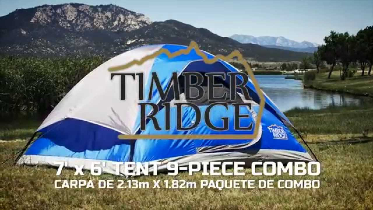Timber Ridge Tents 7u0027 x 6u0027 Dome Tent Setup & Timber Ridge Tents 7u0027 x 6u0027 Dome Tent Setup - YouTube