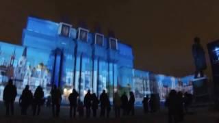 Световое шоу на площади Куйбышева