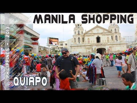 Philippines bargain shopping in Quiapo Manila | 2013 VLOG