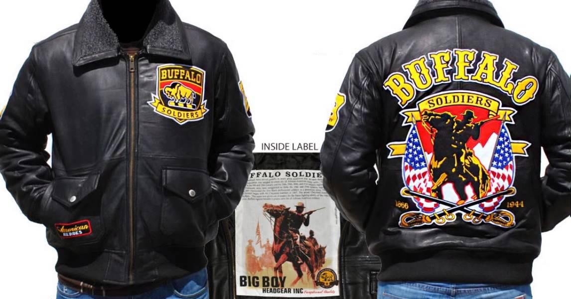 Buffalo Soldiers Mens New Zip-Up Hoodie Black
