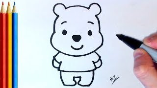 How to Draw Winnie the Pooh (Super Easy) - Step by Step Tutorial