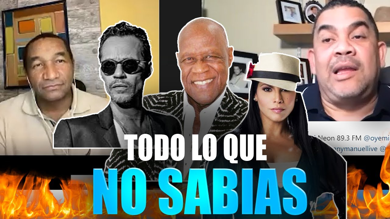 LO QUE NO SABIAS DE Marc Anthony, Jhonny Ventura y Olga tañon!