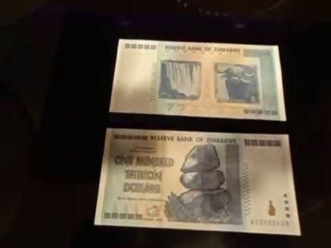 How to authenticate a Zimbabwe 100,000,000,000,000 Note at home?