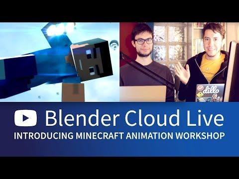 Minecraft Animation Workshop, Flamenco & Attract – Blender Cloud Live