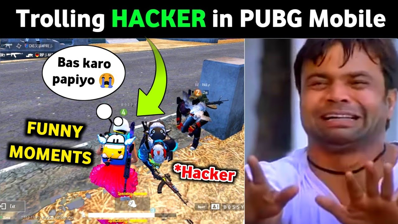 TROLLING HACKER IN PUBG MOBILE | PUBG HINDI FUNNY MOMENTS