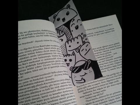 Karakterli Kitap Ayrac? (Doodle Bookmark)
