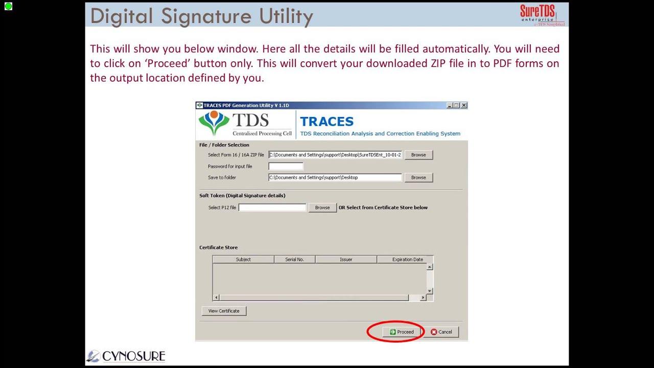 How to Digitally Sign FORM 16/16A using SureTDS Digital Signature Utility