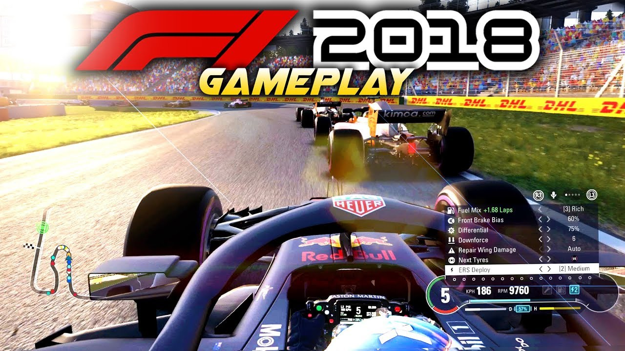 f1 2018 exclusive gameplay race at hockenheim with daniel. Black Bedroom Furniture Sets. Home Design Ideas