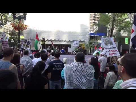 FREE FREE PALESTINE FREE FREE GAZA MARCH PROTEST IN NEW YORK AUG 9 2014 PART 10