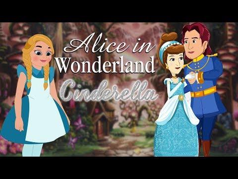 Alice In Wonderland & Cinderella Full Movie - Princess Fairy Tales - Bedtime Stories For Kids