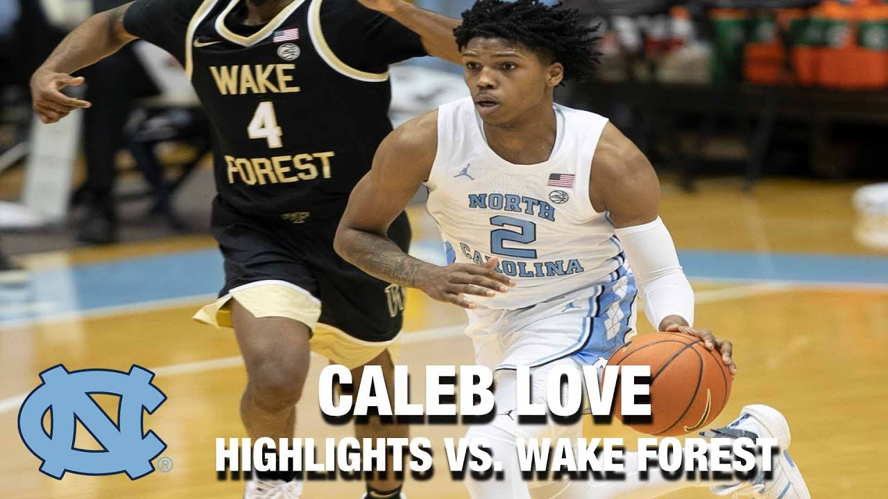 Video: Caleb Love Scores Career-High 20 Points vs. Wake Forest