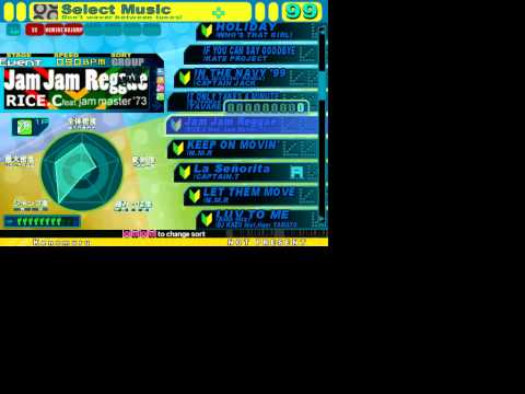 My stepmania setlist from DDR 3rd mix