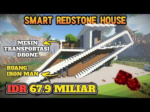 RUMAH PINTAR FULL REDSTONE SEHARGA 67.9 MILIAR DI MINECRAFT!