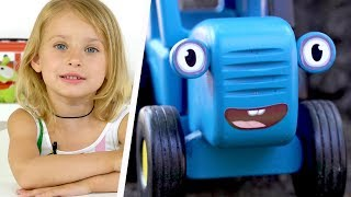 БОЛЬШОЙ #СБОРНИК ИГР - Вера и Синий трактор на улице - Для детей про #машинки