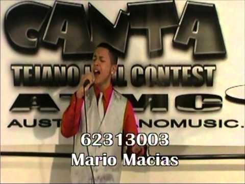 Mario Macias 2013 Tejano Idol Contestant Ft Worth Texas
