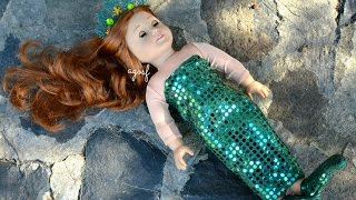 American Girl Doll Mermaid! HD WATCH IN HD!