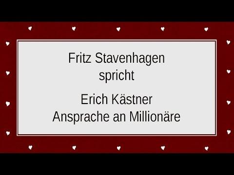 """Erich Kästner """"Ansprache an Millionäre"""" (1930)"""