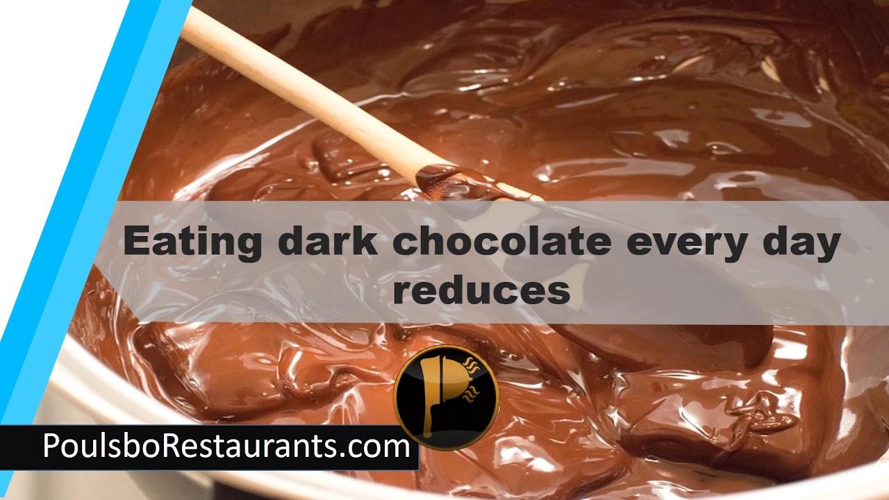 Eat Dark Chocolate Food Facts Poulsbo Restaurants Youtube