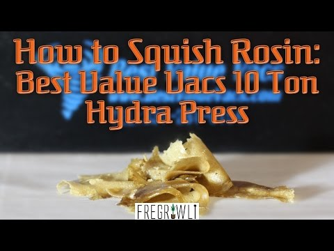 How To Squish Rosin: Best Value Vacs 10 Ton Hydra Press