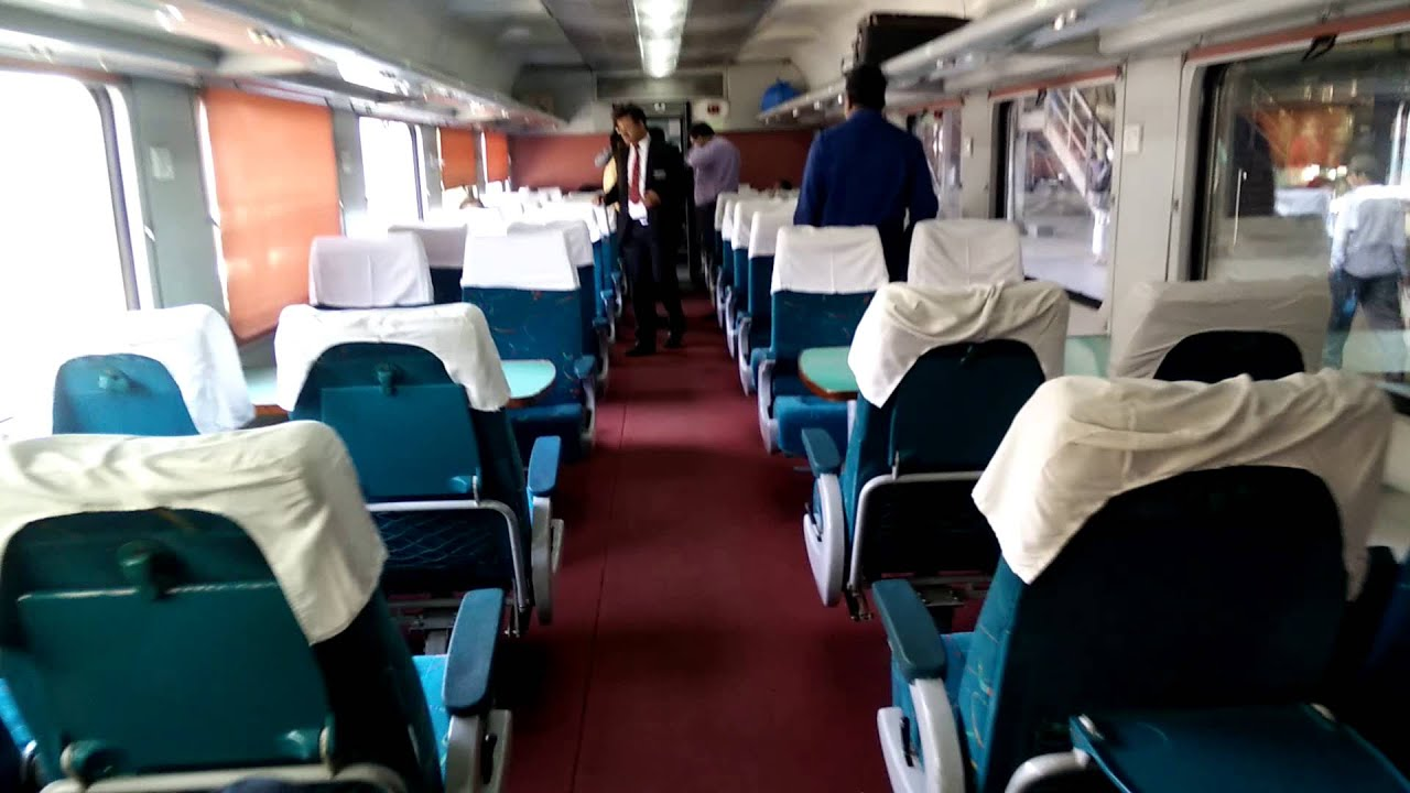 Ahmedabad Mumbai Shatabdi Executive Class Interior - YouTube Shatabdi Express Executive Class