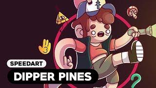 Speedart - Dipper Pines/Gravity Falls (Adobe Illustrator)