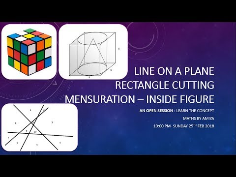 AN OPEN SESSION : PLANE, CUBE - CUTTING :Few Special 3D Figu