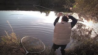 MAN FISHING ALONE with MAGGOTS and Bait (SOLO FISHING)