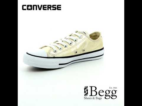 fafd027b Converse Chuck Taylor All Star OX Gold Trainers 153181C-752 - YouTube