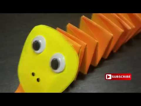 DIY I How to make paper snake easy I paper snake craft I How to make paper accordion snake I