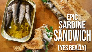 Best Sardine Sandwich Recipe | SAM THE COOKING GUY