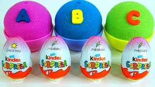 Kinetic Sand Ice Cream Cups Kinder Surprise Eggs Learn Colors LadyBug Surprise Toys for kids Thumbnail