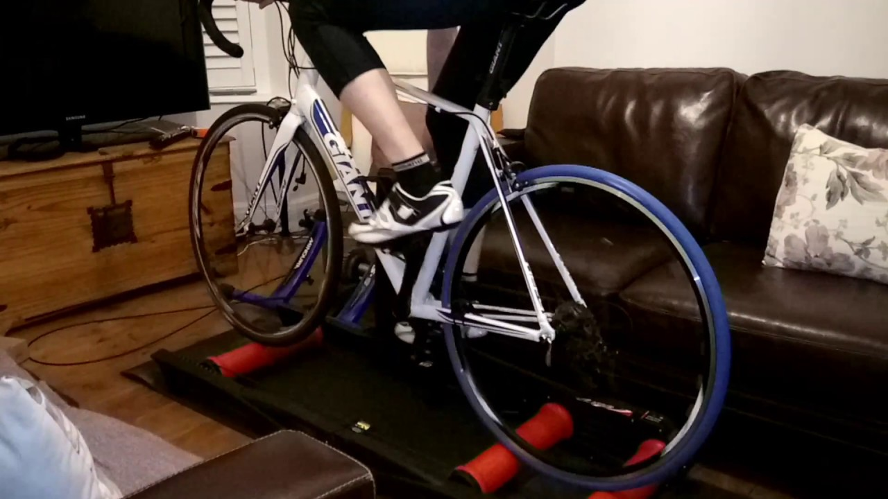 First Attempt On Parabolic Bike Rollers Youtube