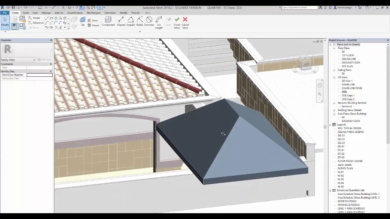 REVIT tile roof 3D PART 2