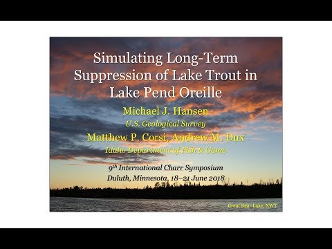 Modeling long term suppression of lake charr in Lake Pend Oreille, Idaho