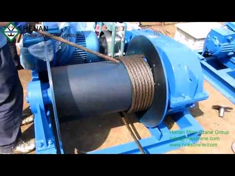 S28 Electric Winch Wire Rope Installation Henan Mine Crane