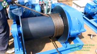 S28 Electric winch wire rope installation Henan Mine Crane Co Ltd www.hnkscrane.com