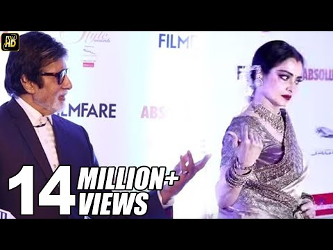 Rekha RUNS Away Seeing Amitabh Bachchan At Filmfare Style Awards Red Carpet