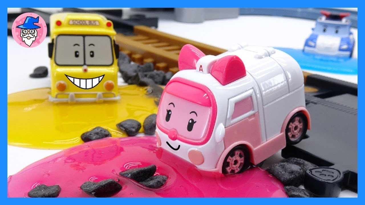 Robocar poli special rescue mission color slime enemy appeared amber 39 s transforming youtube - Robocar poli ambre ...