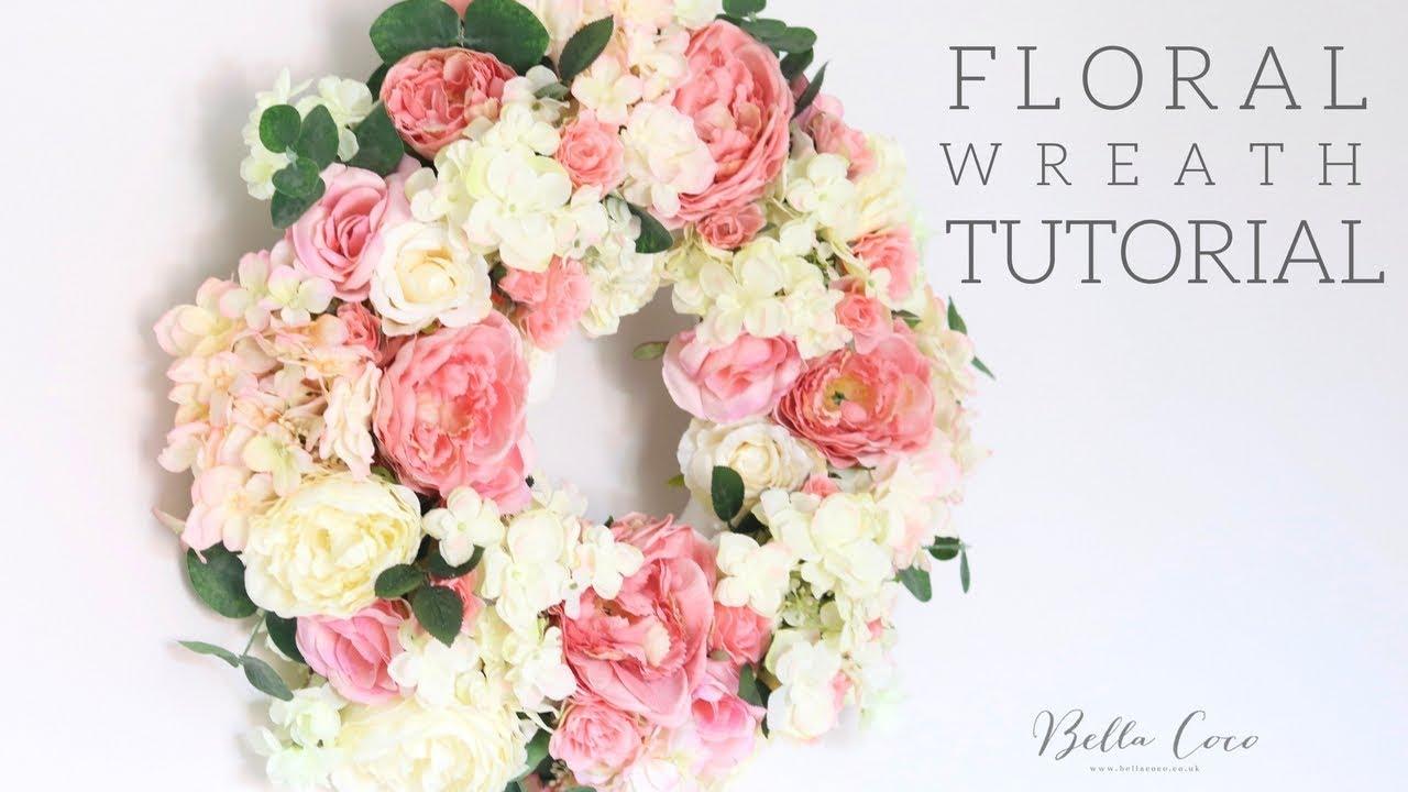 Floral Wreath Tutorial Bella Coco Youtube