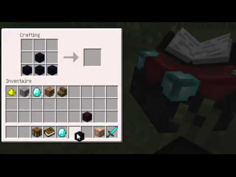 tuto comment faire une table d 39 enchantement dans minecraft youtube. Black Bedroom Furniture Sets. Home Design Ideas