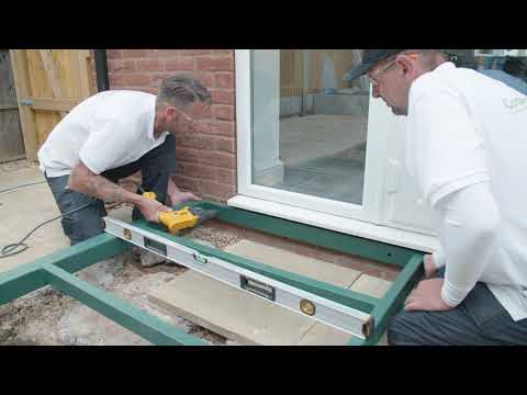 How to install a conservaBase base on your self build conservatory