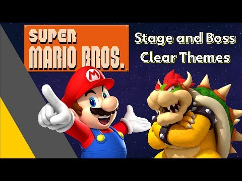 All Super Mario Stage And Boss Clear Themes! (NES - Switch)