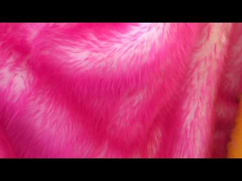 New faux fur hot pink and offwhite