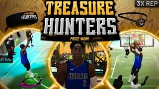 I UNLOCKED 3X REP & WON TREASURE HUNTERS EVENT IN NBA 2K20! BEST BUILD DOMINATES NEW PARK EVENT