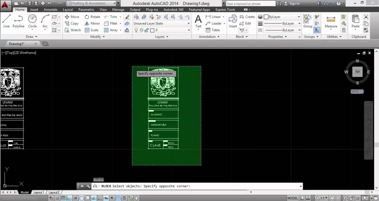 Bloques con atributos pie de plano autocad youtube for Pie de plano arquitectonico pdf