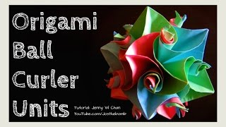 How to Fold Origami Ball Kusudama - 12 Curler Units Flower Cuboctahedron