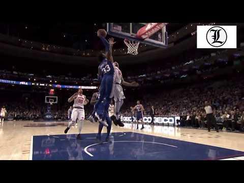 Nasty DUNK!Robert Covington vs Michael Beasley  Philadelphia 76ers  vs New York Knicks 12FEB2018