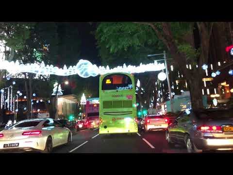 Orchard Road Singapore Christmas Lights 2017 in 4K