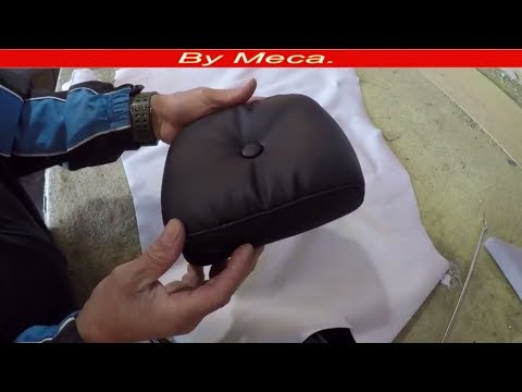 How to make Wrinkles on a motorcycle backrest. Upholstery for beginners